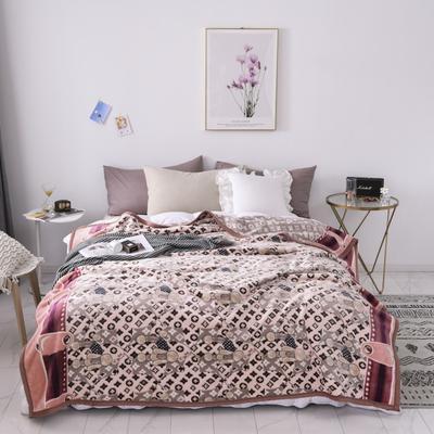 双层加厚高品质复合云毯北欧毛毯法兰绒珊瑚绒毯子秋冬休闲毯 150*200cm 萌宠