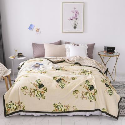双层加厚高品质复合云毯北欧毛毯法兰绒珊瑚绒毯子秋冬休闲毯 150*200cm 素锦年华