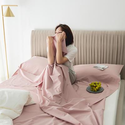 2020新款-60s水洗棉酒店隔脏旅行睡袋 甜心粉80*210cm