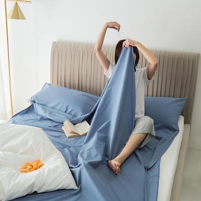 2020新款-60s水洗棉酒店隔脏旅行睡袋 童真蓝80*210cm