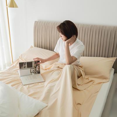 2020新款-60s水洗棉酒店隔脏旅行睡袋 亚米黄80*210cm
