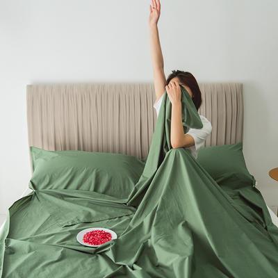 2020新款-60s水洗棉酒店隔脏旅行睡袋 牛油果绿130*210cm