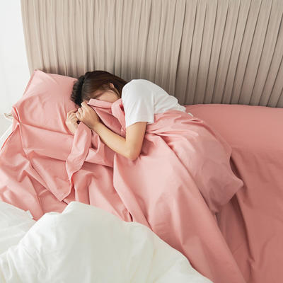 2020新款-60s水洗棉酒店隔脏旅行睡袋 理菊红160*210cm