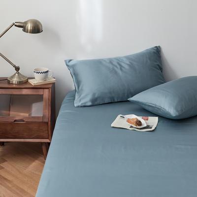 2020新款天丝纯色床笠三件套丝滑简约床罩 180cmx200cm床笠三件套 海藻蓝