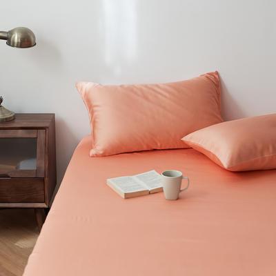 2020新款天丝纯色床笠三件套丝滑简约床罩 180cmx200cm床笠三件套 荷兰橘