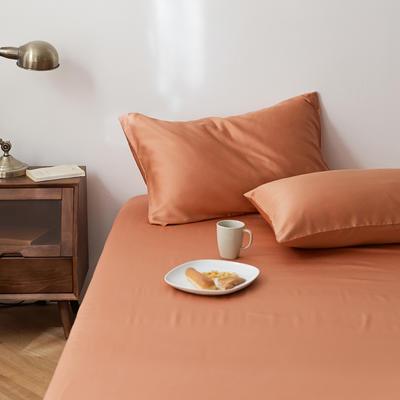 2020新款天丝纯色床笠三件套丝滑简约床罩 180cmx200cm床笠三件套 焦糖色