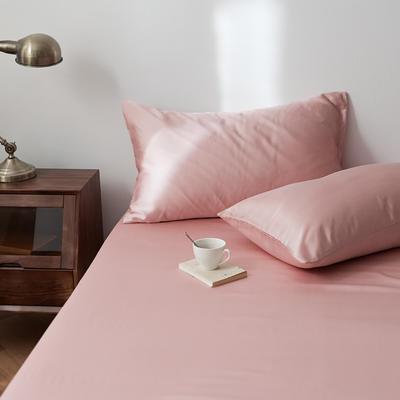 2020新款天丝纯色床笠三件套丝滑简约床罩 180cmx200cm床笠三件套 蜜桃粉