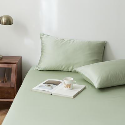 2020新款天丝纯色床笠三件套丝滑简约床罩 180cmx200cm床笠三件套 浅草绿