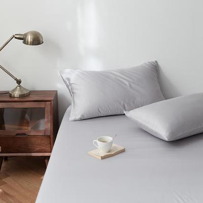 2020新款天丝纯色床笠三件套丝滑简约床罩 180cmx200cm床笠三件套 轻奢灰