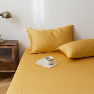 2020新款天丝纯色床笠三件套丝滑简约床罩 180cmx200cm床笠三件套 亚丁黄