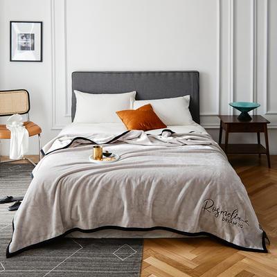 2021新款毛毯被子四季办公室午睡毯法兰绒保暖纯色小盖毯子学生单人空调毯 200*230cm 古董灰