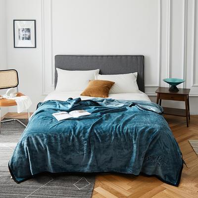 2020新款毛毯被子四季办公室午睡毯法兰绒保暖纯色小盖毯子学生单人空调毯 150*200cm 珊瑚绿