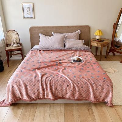 双层加厚高品质复合云毯北欧毛毯法兰绒珊瑚绒毯子秋冬休闲毯 200cmx230cm BT生活