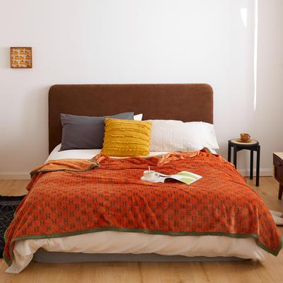 2020新款法兰绒小毛毯被子办公室午睡毯单人加厚保暖珊瑚绒毯子空调盖毯冬 120*200cm 字母h