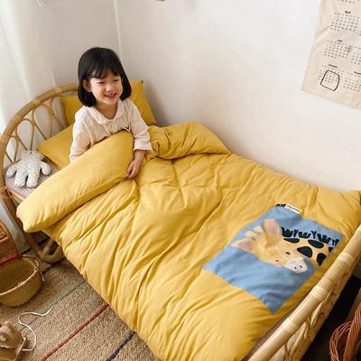 2020新款儿童可拆洗抗菌大豆针织冬被 120x150cm春秋被2.8斤 黄色长颈鹿
