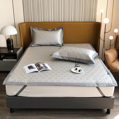 2021新款轻奢系列水洗抗菌养生席—床席款 1.8m床席款 艾玛情怀-灰