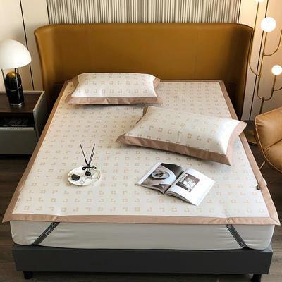 2021新款轻奢系列水洗抗菌养生席—床席款 1.8m床席款 梵克花-白