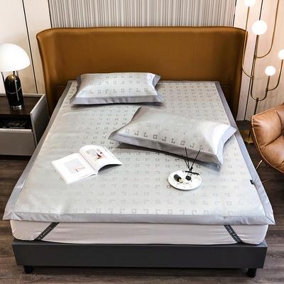 2021新款轻奢系列水洗抗菌养生席—床席款 1.8m床席款 梵克花-灰