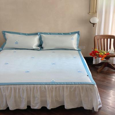 2021新款少女系列水洗抗菌养生席—床席款 1.8m床席款 baby熊-蓝