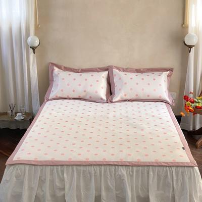 2021新款少女系列水洗抗菌养生席—床席款 1.8m床席款 波点-粉