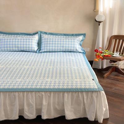 2021新款少女系列水洗抗菌养生席—床席款 1.8m床席款 千鸟格-蓝
