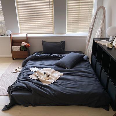 2021新款60s轻奢复古水洗棉提花套件 1.8m床单款四件套 卡珊娜-藏蓝