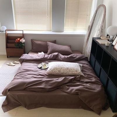 2021新款60s轻奢复古水洗棉提花套件 1.8m床单款四件套 尤克丝丽-紫藕色