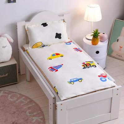 2020新款儿童婴儿隔尿垫防水可洗纯棉防尿床垫四季通用幼儿园宝宝床垫 缤纷汽车  60*120单床垫套
