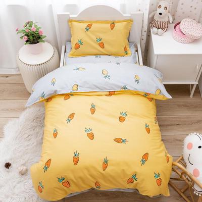2020新款幼儿园被子三件套儿童纯棉被套宝宝儿童床午睡被褥加厚入园六件套 单被套120*150cm 胡萝卜