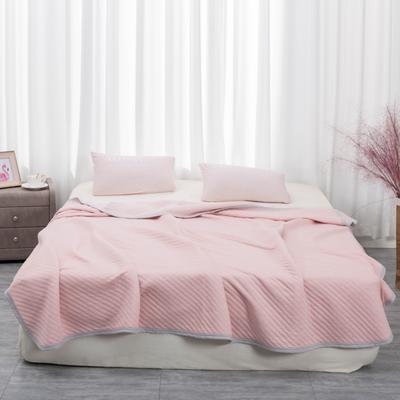 2020新款全棉针织棉提花双人毛巾被夏凉被纯棉单人毯空调被夏被 单品夏被100x150cm 粉色