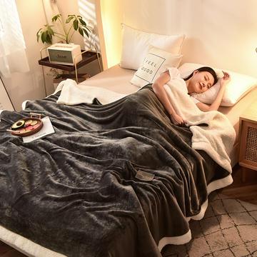 2020新款双层加厚羊羔绒被套毛毯多功能毯子法莱绒毯被罩沙发毯空调毯汽车午睡毯