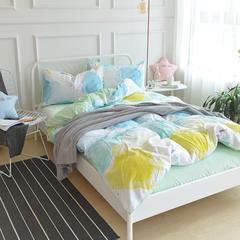 水洗棉水晶绒四件套 小号1.2-1.5m床(三件套) 彩妆