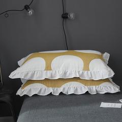 798家居   全棉水洗纱布夏被系列 单枕套 48cmX74cm(对) 圆橙