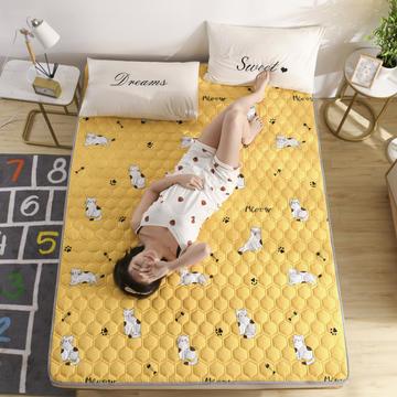 2020新款磨毛床垫春季四季印花亲肤棉防滑床垫床褥床护垫榻榻米垫可折叠水洗保护垫