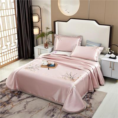 2020新款600D可水洗全冰丝绣花凉席床单三件套席子 1.5m(5英尺)床三件套 锦庭粉
