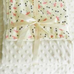婴童泡泡毯时尚缤纷卡通元素童毯80*120cm 狐狸