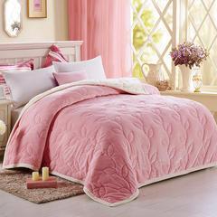 朴素之美新品被毯系列(双拼被毯) 150*200 cm 粉色