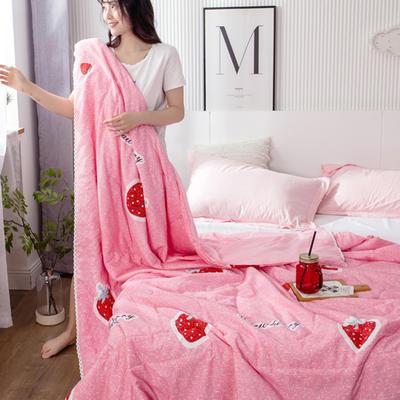 2021春夏新品水洗棉夏被 180x200cm 草莓物语