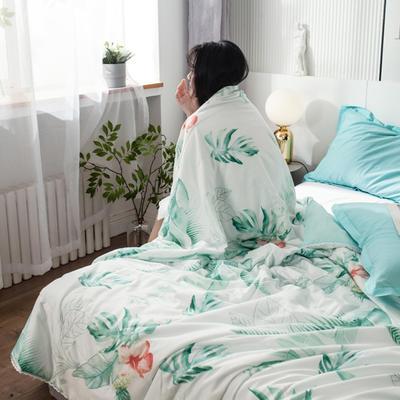 2021春夏新品水洗棉夏被 150x200cm 大大的绿叶