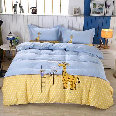 2020新款全棉儿童卡通绣花套件 1.2m床单三件套(送方垫套一个48*48) 儿童梦想