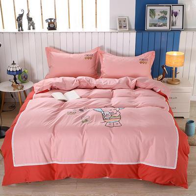 2020新款全棉儿童卡通绣花套件 1.2m床单三件套(送方垫套一个48*48) 妈妈的爱