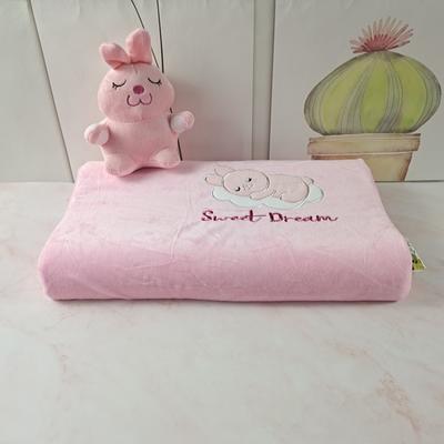2020绒款儿童乳胶玩具枕枕头枕芯25*44cm/只 粉色小兔