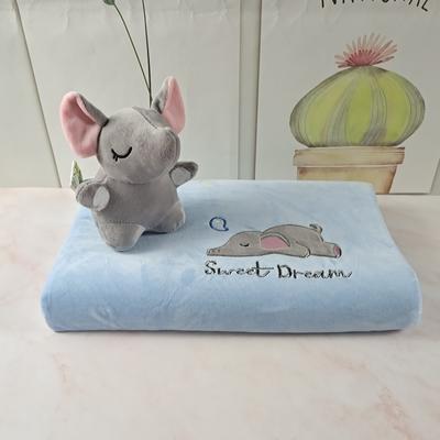 2020绒款儿童乳胶玩具枕枕头枕芯25*44cm/只 小灰象