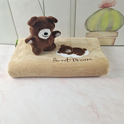 2020绒款儿童乳胶玩具枕枕头枕芯25*44cm/只 棕色小熊