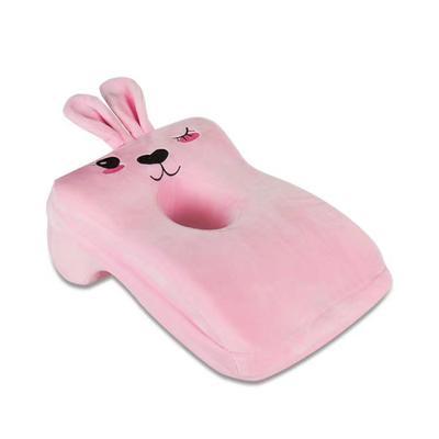 2020新款宝宝绒卡通绣花午睡枕枕头枕芯 粉色(小粉兔)