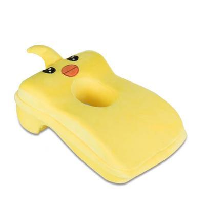 2020新款宝宝绒卡通绣花午睡枕枕头枕芯 黄色(小黄鸭)