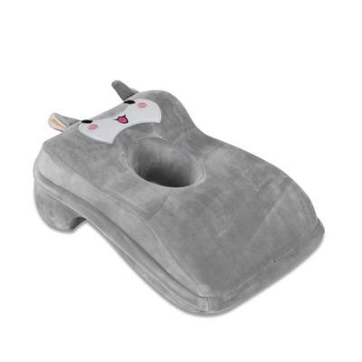 2020新款宝宝绒卡通绣花午睡枕枕头枕芯 灰色(小羊)