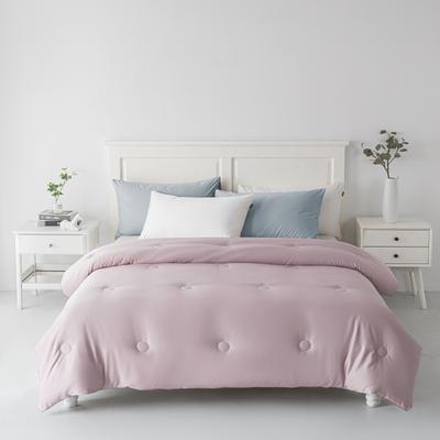 2020新款贡缎羽丝绒被被子被芯 150x200cm(秋冬被4斤) 粉色