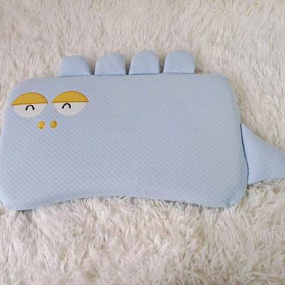 2021新款彩棉婴儿定位慢回弹记忆枕枕头枕芯30*50cm/只 萌萌猫咪-蓝