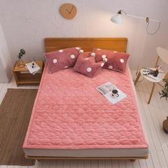 2018新款-兔绒床垫三件套 150×200cm 纯粉